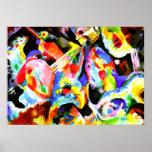 Flood Improvisation, abstract art by Kandinsky Poster