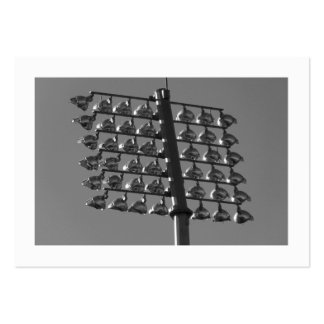 Flood Lights (B&W) (Bordered) Pack Of Chubby Business Cards