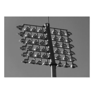 Flood Lights (B&W) Pack Of Chubby Business Cards