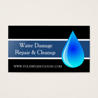 Flood Water Damage Service and Cleanup Business Card