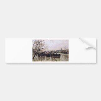 Flooding by the Seine by Frits Thaulow Bumper Sticker