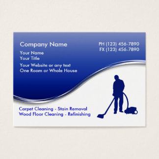 Floor Cleaning Business Cards
