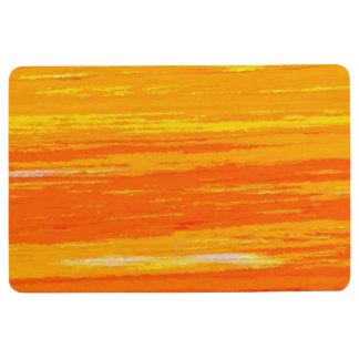 Floor - Door Mat - Streaky Orange / White