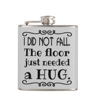 Floor Hug Funny Hip Flasks