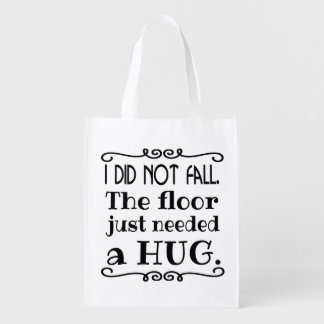 Floor Hug Funny Reusable Grocery Bag