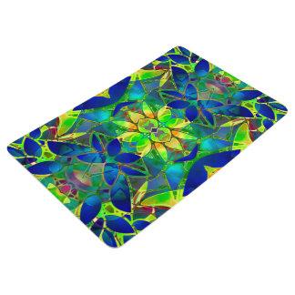Floor Mat Floral Fractal Art