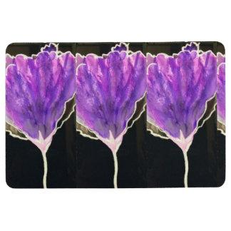 floor mat with purple flowers