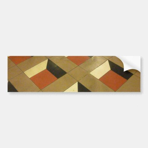 Floor Optical Illusion pattern tiles Las Vegas pho Bumper Stickers
