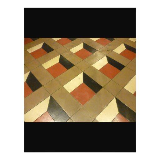 Floor Optical Illusion pattern tiles Las Vegas pho Flyers