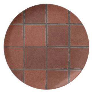 Floor tiles background dinner plates