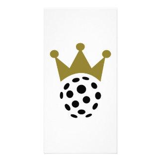 Floorball champion crown photo greeting card
