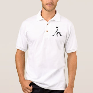 Floorball Player logo Polo Shirt
