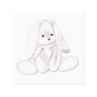 Floppy Baby Pink Plush Bunny Baby Canvas Art Canvas Prints