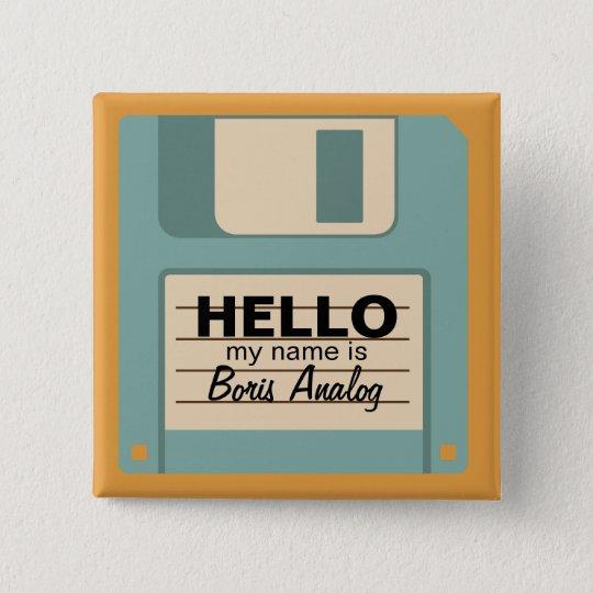 Floppy Diskette Personalised Name Badge