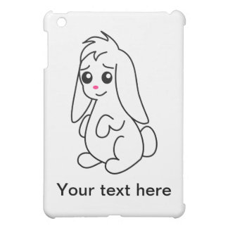 Floppy Ear Cute White Bunny Rabbit iPad Mini Cover