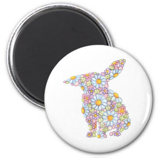 Floppy-Eared Bunny 6 Cm Round Magnet