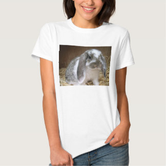 Floppy Ears Gray and White Bunny T-Shirt