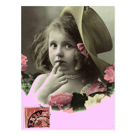 Floppy Hat Girl Postcard
