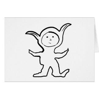 Floppy Pointy Ear Kids Jammies Design Greeting Card