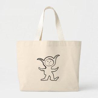 Floppy Pointy Ear Kids Jammies Design Jumbo Tote Bag