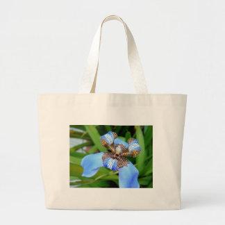 Flor azul tigrada bolsas