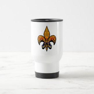 flor de leaf stainless steel travel mug