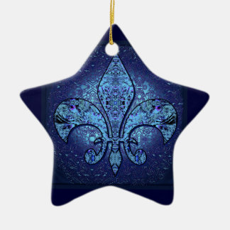 Flor-De-Lis,crest,flower- Christmas Ornament