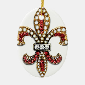 Flor De Lis Fleur De Lis Jewel new orleans Ceramic Oval Decoration