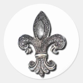 Flor De Lis Fleur De Lis symbol new orleans Classic Round Sticker