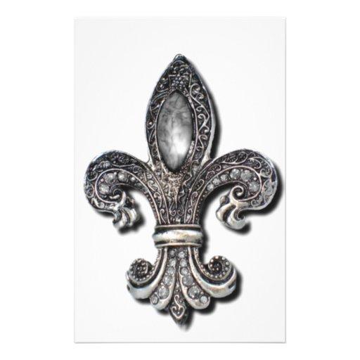 Flor De Lis Fleur De Lis symbol new orleans Customized Stationery