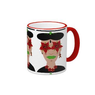 Flor de Noche Buena, Christmas Eve Flower Ringer Mug