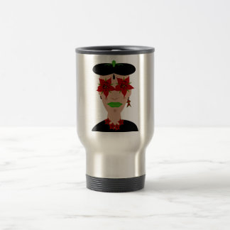 Flor de Noche Buena, Christmas Eve Flower Stainless Steel Travel Mug
