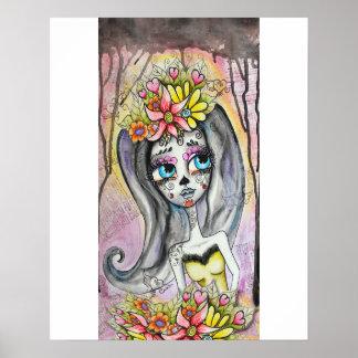 Flor, Dia de los Muertos poster