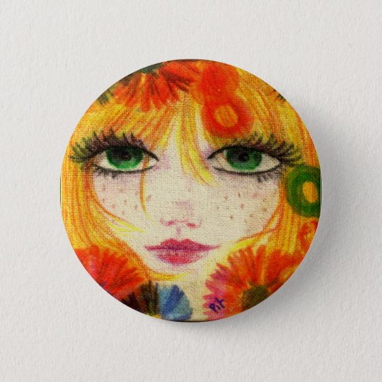 Flora 6 Cm Round Badge