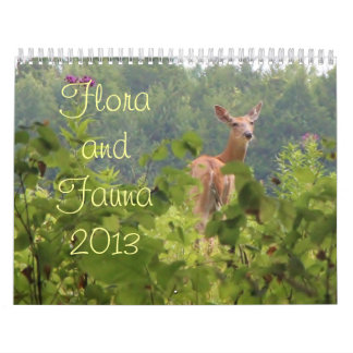 Flora and Fauna 2013 Wall Calendars