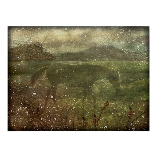 Flora and Fauna Dreamy Collage Poster