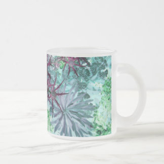Flora and Fauna Frosted Glass Mug