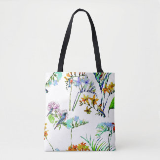 Flora and Fauna Printed Tote Bag