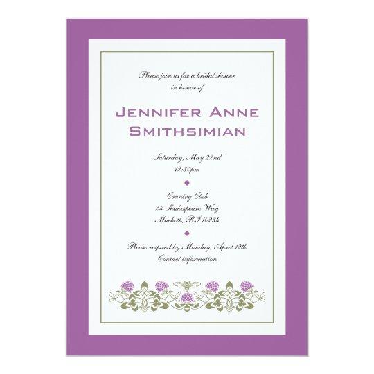 Flora Bee Bridal Shower Invitation
