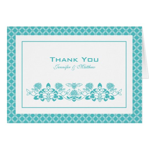 Flora Bee Thank You Card with Name
