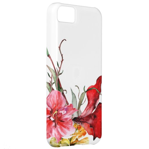 Flora Botanica Bold Watercolor Flowers Cover For iPhone 5C