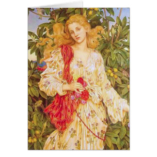 Flora by Evelyn de Morgan Card