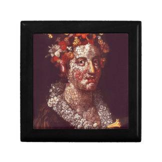 Flora by Giuseppe Arcimboldo Small Square Gift Box