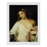 Flora, by Titian Posters