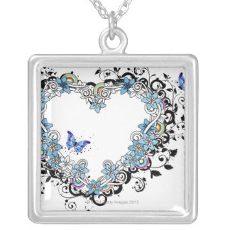 Flora Design 2 Silver Plated Necklace