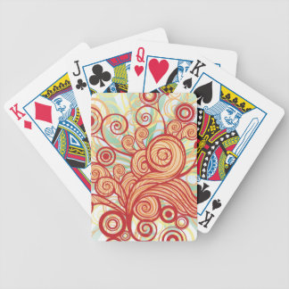 Flora Design Bicycle Playing Cards