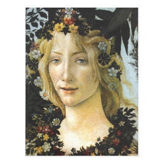 Flora (detail of Primavera) Botticelli Fine Art Postcard