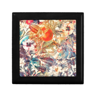 flora flowers small square gift box