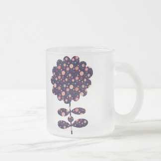 Flora Frosted Glass Mug