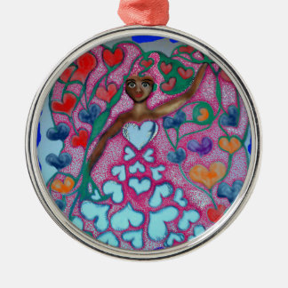 Flora in the Garden with Love Christmas Ornament